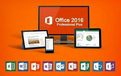 Microsoft Office 2016 Professional Plus Activation Key 32/64Bit Instant Delivery