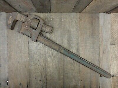 """Vintage RECORD 24"""" Pipe Wrench / Stilsons Tool Quality Made In England"""