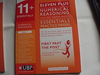 Bk 1 & 2 11+ Essentials Numerical Reasoning:Multipart Ques Prac Papers for CEM.