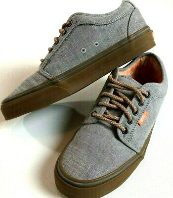 1dfdf19036 VANS Chukka Low Skate Shoes Boy s Youth 7 Canvas Textile Vulcanized Custom  Gray