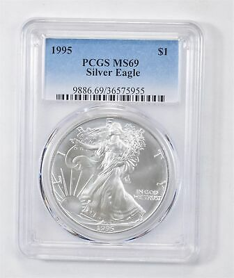 1995 American Silver Eagle MS-69 1 Troy Oz PCGS Graded *562