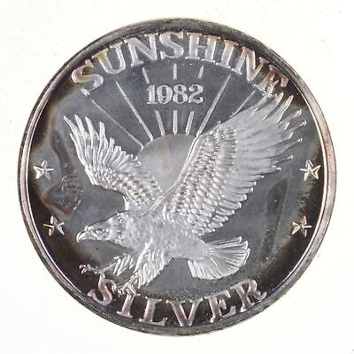Limited - 1 Troy Oz Silver Sunshine Mining Round - .999 Fine Silver *920