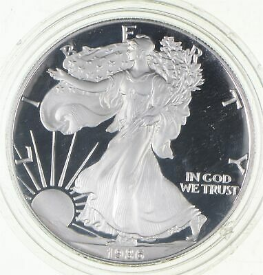 PROOF - NICE - 1986-S American Silver Eagle - DEEP CAMEO Proof - Rare *798