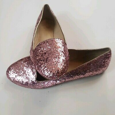 1fbda352e96a NEW KATE SPADE New York  Cora  LOAFERS FLATS Gold Glitter with Bows ...