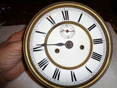 Antique-2 Weight-Vienna Regulator Clock Movement.-Ca.1900-To Restore-#T345