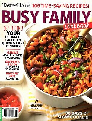 Taste Of Home Magazine Busy Family Cookbook Time Saving Recipes