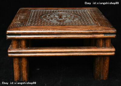 China Huanghuali wood handcrafted Two Dragon pattern Tea ceremony Tea table Desk