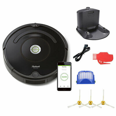 iRobot Roomba 675 Robot Vacuum and Wi-Fi Bundle with 3 Extra Side Brushes (8