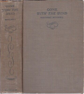 1936 Vtg Gone With the Wind Margaret Mitchell 1st/22nd Early Printing Civil War