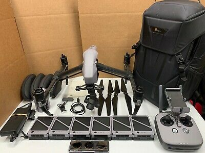 Dji Inspire 2 Drone W/ X4S Camera 6 Batteries Polar Pro *fully Functional* T650A