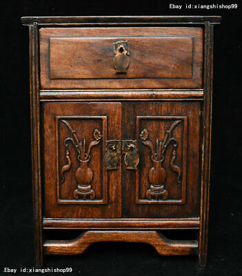 Collect China huanghuali wood carved Classical furniture Lockers Storage Cabinet