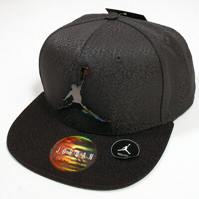 90a520053ce72c AIR JORDAN JUMPMAN Hat Youth Snapback Size 8 20 Black Gym Red ...