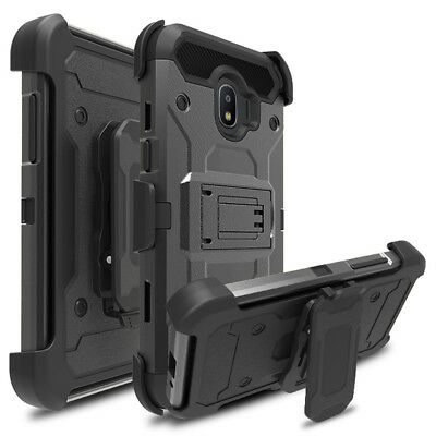 Heavy Duty Armor Case Shockproof Belt Clip Cover For Samsung Galaxy J2 PRO 2018