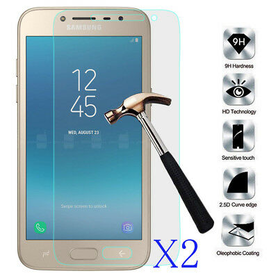 2 x Premium Tempered Glass Screen Protector Film For Samsung Galaxy J2 Pro 2018