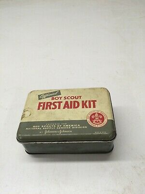 Vintage 1950's Official Boy Scout First Aid Kit