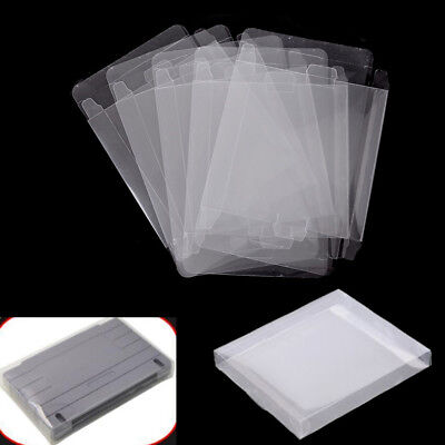 5Pcs Game Plastic Cartridge Protector Cover Box Case For Nintendo Snes/Super AU