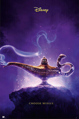"ALADDIN -  DISNEY MOVIE POSTER (TEASER - CHOOSE WISELY / LAMP) (SIZE: 24 x 36"")"