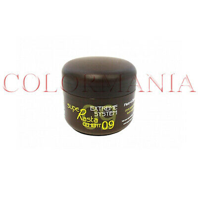 Retrò SUPER RASTA CEMENT WAX CERA PER CAPELLI EXTRA FORTE PROFESSIONALE 100 ML