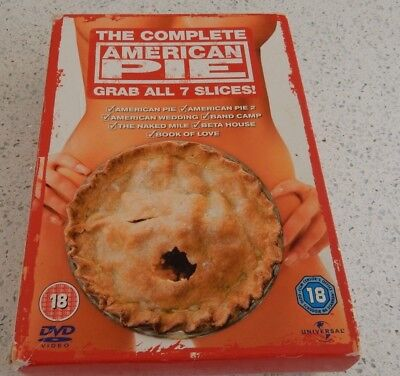 Great Comedy DVD  American Pie: All 7 Pieces of Pie [DVD Box Set] 1,2,3,4,5,6,7,