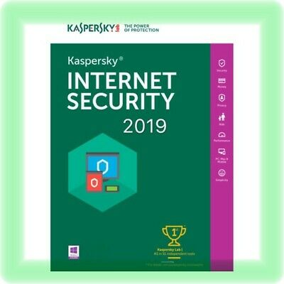 Kaspersky Internet Security 2019 1 Anno Licenza consegna rapida PC MAC ANDROID