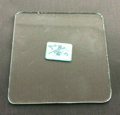 "VINTAGE: Flat Square Replacement Carriage Alarm Clock Glass 2 9/16"" (65mm)"