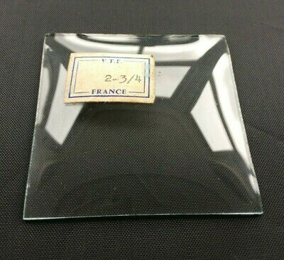 "VINTAGE: Convex Square Replacement Carriage Alarm Clock Glass 2 3/4"" (70mm)"