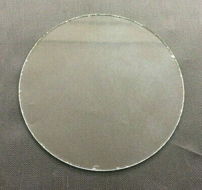 "VINTAGE: Flat Round Replacement Carriage Alarm Clock Glass 3 9/16"" (90.4mm)"