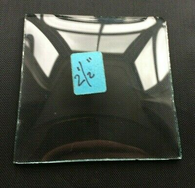 """VINTAGE: Convex Square Replacement Carriage Alarm Clock Glass 2 1/2"""" (64mm)"""