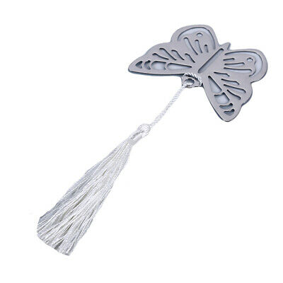 Unique Lucky Butterfly Pendant Stainless Steel Stationery Bookmark Book Mark  B
