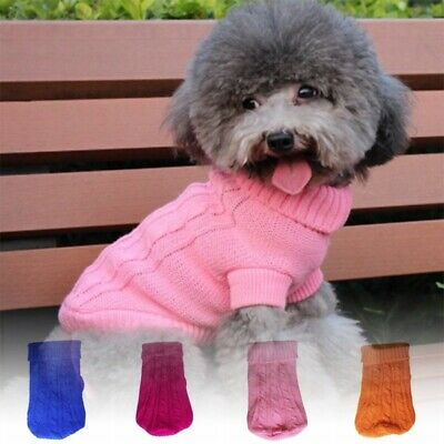 Small Dog Clothes Puppy Pet Winter Sweater Knitted Warm Apparel Coat