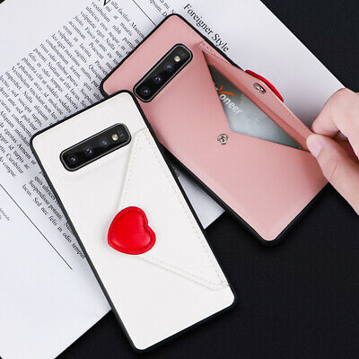 Cute Card Slot Wallet Leather Case Cover For Samsung Galaxy S10 Plus S10E Note 9