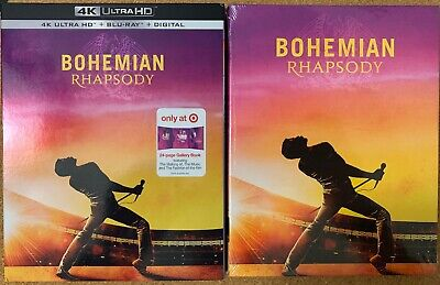 New Bohemian Rhapsody 4K Ultra Hd Blu Ray Target Exclusive Digibook + Slipcover
