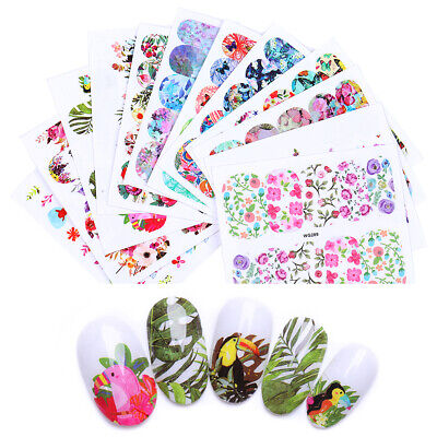 8Sheets LEMOOC Nail Art Water Decals Summer Theme s Transfer Stickers