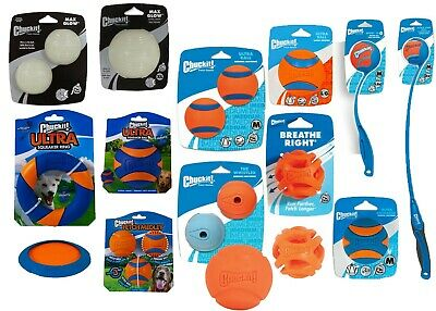 Chuckit! Dog Puppy Durable Rubber Squeaky Ball Toys Fetch Ball Launcher Thrower