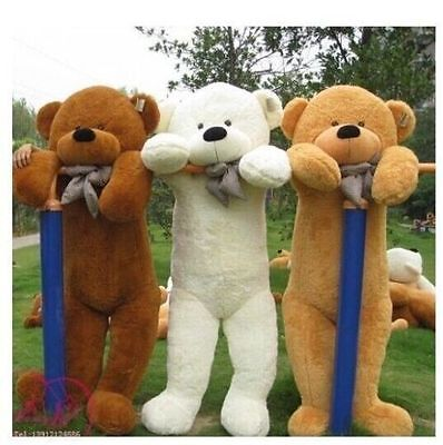 Giant big Teddy Bear Skin cover Plush Toys Skin With zipper 5 Colors no cotton