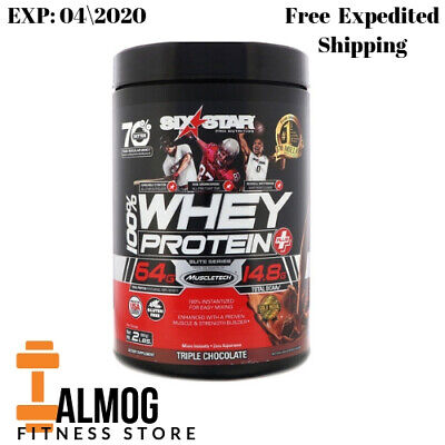 Six Star Pro Nutrition 100% Whey Protein Plus Elite Series Triple Chocolate 2 Lb
