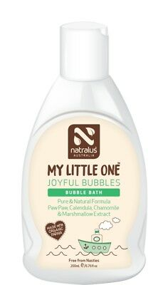 Natralus My Little One Joyful Bubbles Bubble Bath 200ml, Natural Baby BubbleBath
