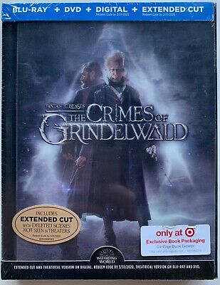 New Fantastic Beasts Crimes Of Grindelwald Blu Ray Dvd Lenticular Digibook Rare