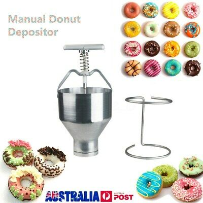Manual Donut Depositor Dropper Dough Batter Dispenser Hopper Maker Tool AU