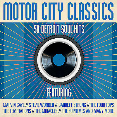 2 Cd Box Motor City Classics Detroit Soul Hits Gaye Wonder Miracles Marvelettes