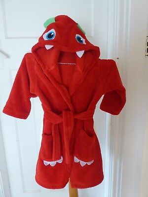 Boys monster dressing gown from F & F - Age 3 - 4 years