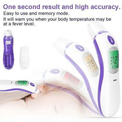 Non-contact Infrared Thermometer Ear Forehead Body Temperature for Baby Kids