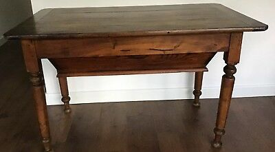 Rare Antique 1800's, French, Elm & Fruitwood, 3Plank, 120cm, Bakers Dough Table.