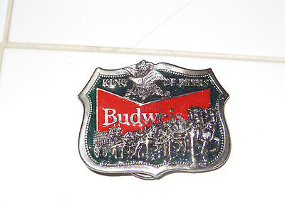 Vintage Budweiser Clydesdales Belt Buckle beer collectible/ NOS