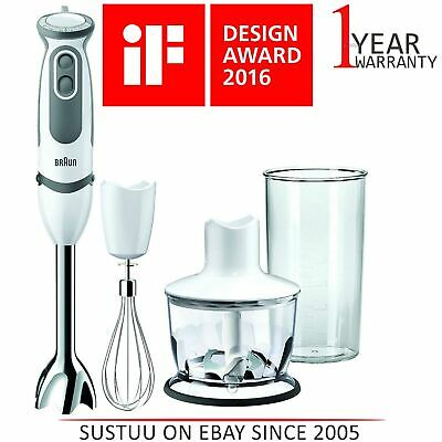 Braun MultiQuick 5 Vario 750W Hand Blender│21 Speed│MQ 5035 Sauce│White/Grey│NEW