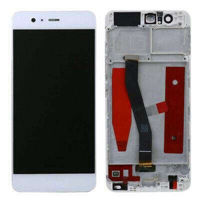 Touch Screen Vetro + Frame + Lcd Display Per Huawei P10 Vtr-L09 Vtr-Al00 Bianco