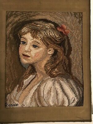 VINTAGE Renoir Masters COMPLETED TAPESTRY Mounted On Board