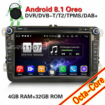 "8"" Car radio Android 8.1 Sat Nav DAB+OPS For PASSAT GOLF Touran TIGUAN EOS SKODA"