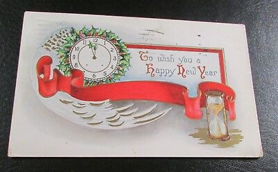 Old Greeting Postcard---<HAPPY NEW YEAR>---[1914]