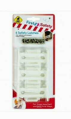 6 Pack of Child Proof Safety Catch Cupboard Door Drawer Lock Latch Kid Catches